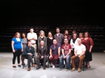 Photo from the Shakespeare Theatre Company's Social Media call, with Black Watch director John Tiffany (center) and Black Watch cast members Scott Fletcher, Ryan Fletcher, Robert Jack and Chris Starkie